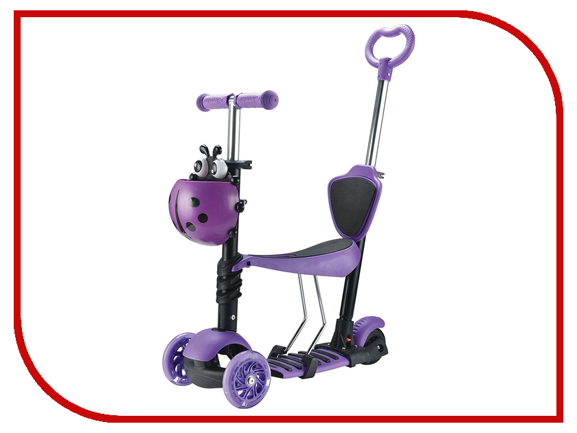Самокат Novatrack Disco-Kids 120 Purple 120SB.DISCOKIDS.VL7 кикборд novatrack disco kids 120h discokids pn7 pink