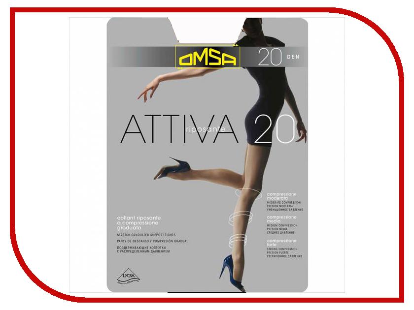 Колготки OMSA Attiva размер 3 плотность 20 Den Nero attiva control top omsa