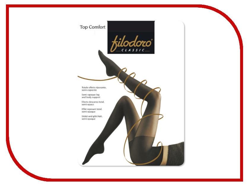 Колготки Filodoro Top Comfort размер 4 плотность 30 Den Nero колготки filodoro slim control top размер 2 плотность 40 den nero