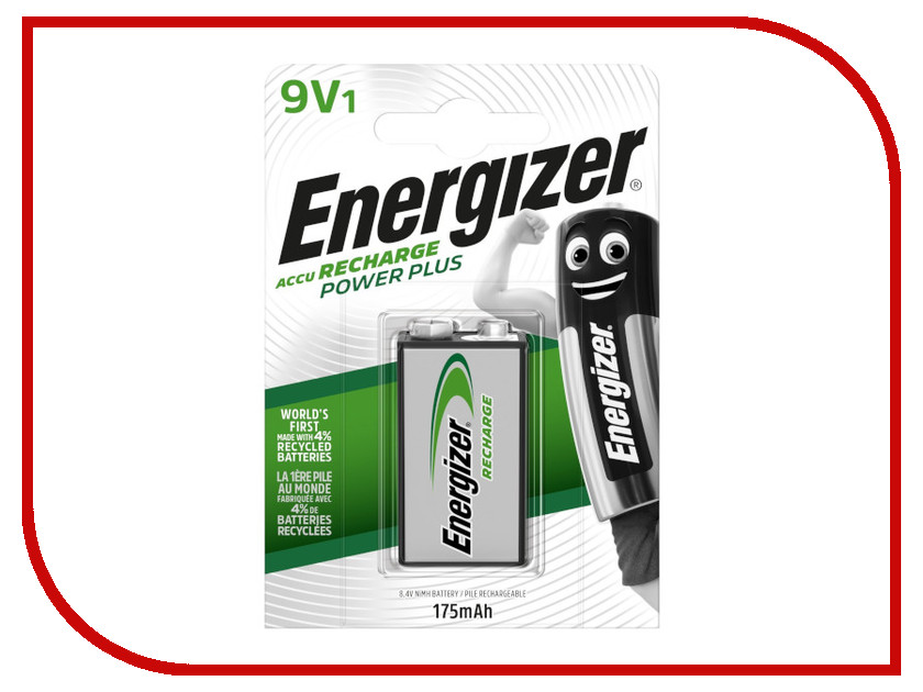 Аккумулятор КРОНА - Energizer Rech Power Plus NH22 175 mAh Ni-MH (1 штука) аккумулятор berti x power plus 3000mah orange