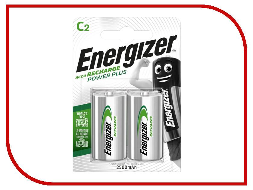 Аккумулятор C - Energizer Rech Power Plus 2500 mAh Ni-MH (2 штуки)