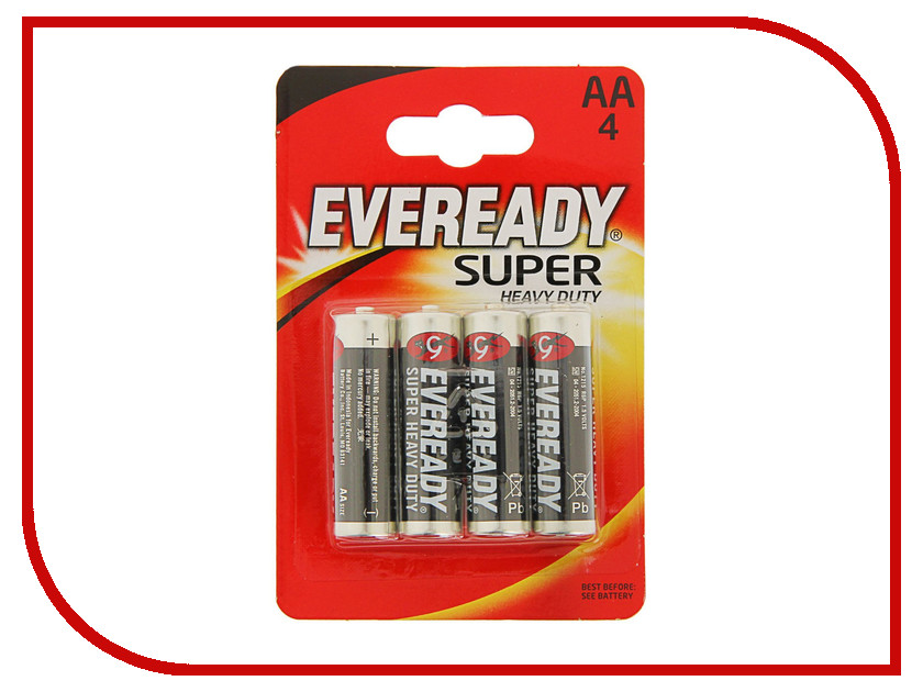Батарейка AA - Energizer Eveready Super R6 Ni-MH (4 штуки) элементы питания liberty project элемент питания energizer carbon zinc eveready aa 4шт 637081 e301012800