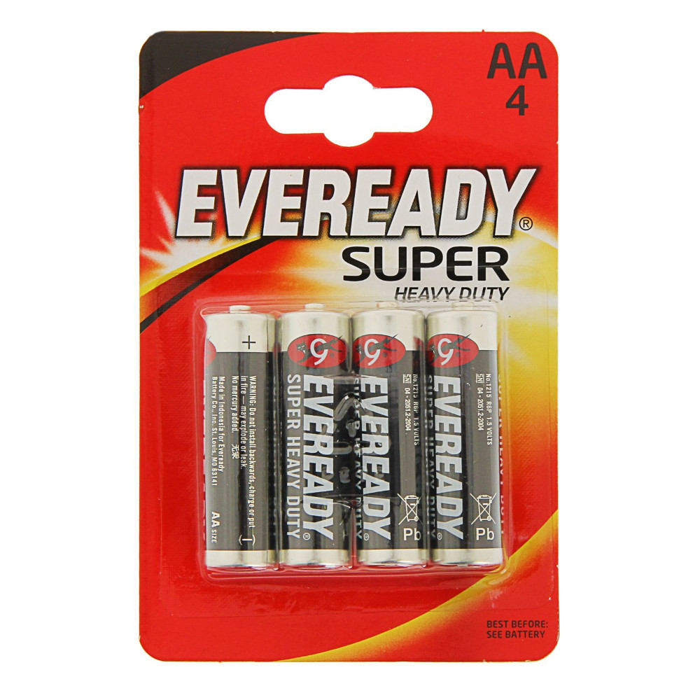 Батарейка AA - Energizer Eveready Super R6 Ni-MH (4 штуки) E301155700 / 11646