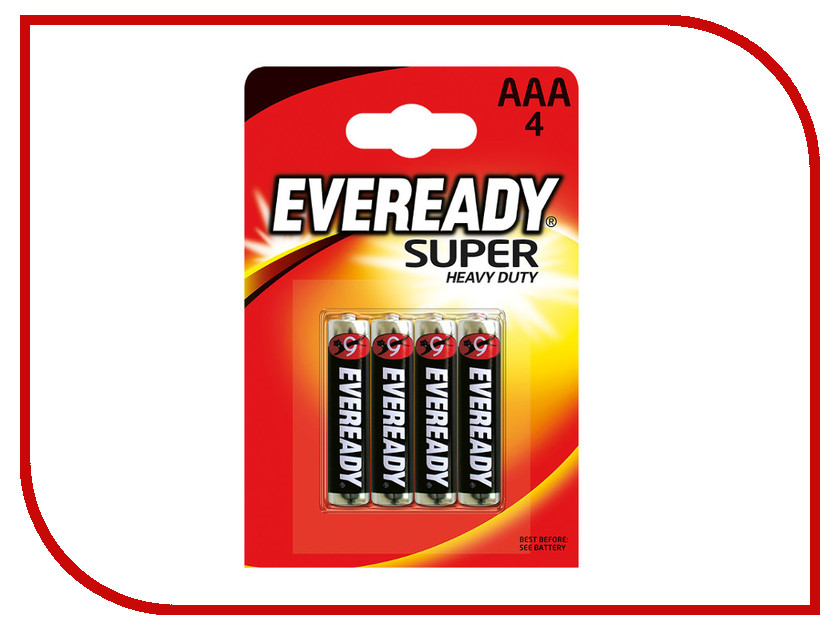 Батарейка AAA - Energizer Eveready Super Heavy Duty R03 (4 штуки)