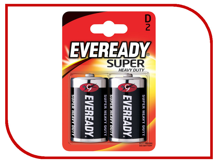 Батарейка D - Energizer Eveready Super R20 Ni-MH (2 штуки) элементы питания liberty project элемент питания energizer carbon zinc eveready aa 4шт 637081 e301012800