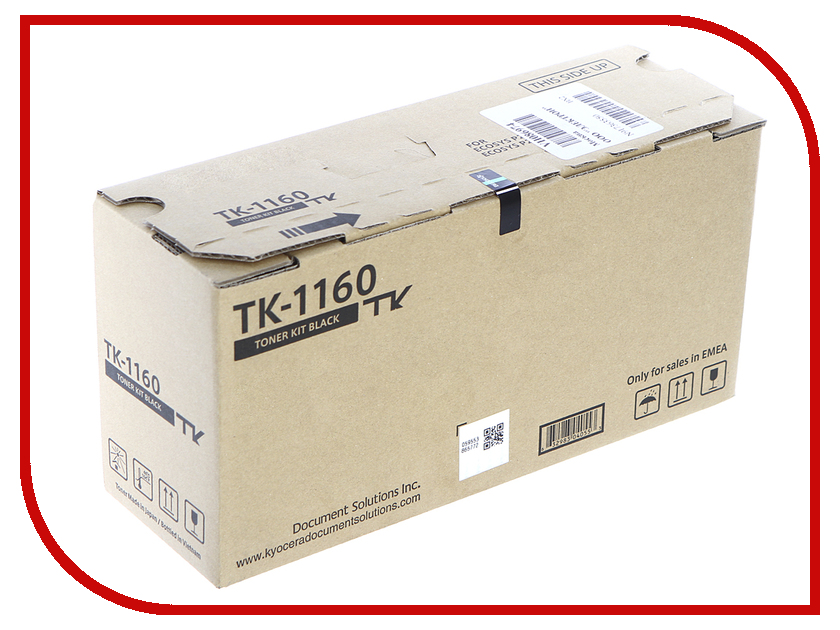 Картридж Kyocera TK-1160 Black для P2040dn/P2040dw картридж sakura black для kyocera mita ecosys p2040dn p2040dw 7200к