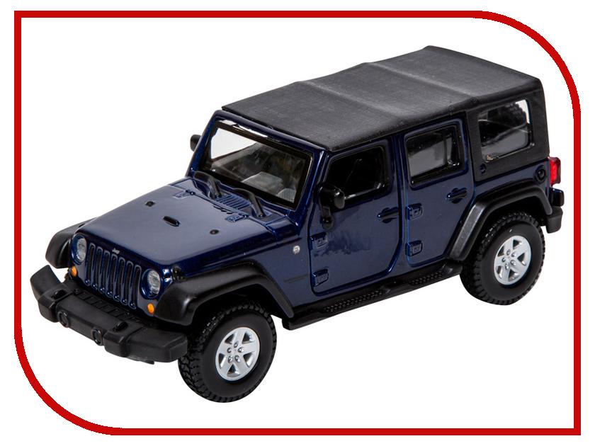 Машина Bburago Jeep Wrangler Unlimited Rubicon 18-43012 2 piece set locking hood look catch hood latches kit for jeep wrangler jk rubicon sahara unlimited 2007 2016