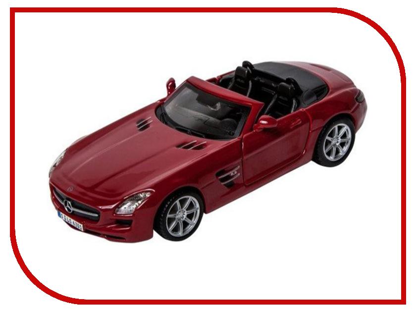 Машина Bburago Mercedes-Benz SLS AMG Cabrio 18-43035 модель автомобиля bburago mercedes amg c coupe dtm масштаб 1 32