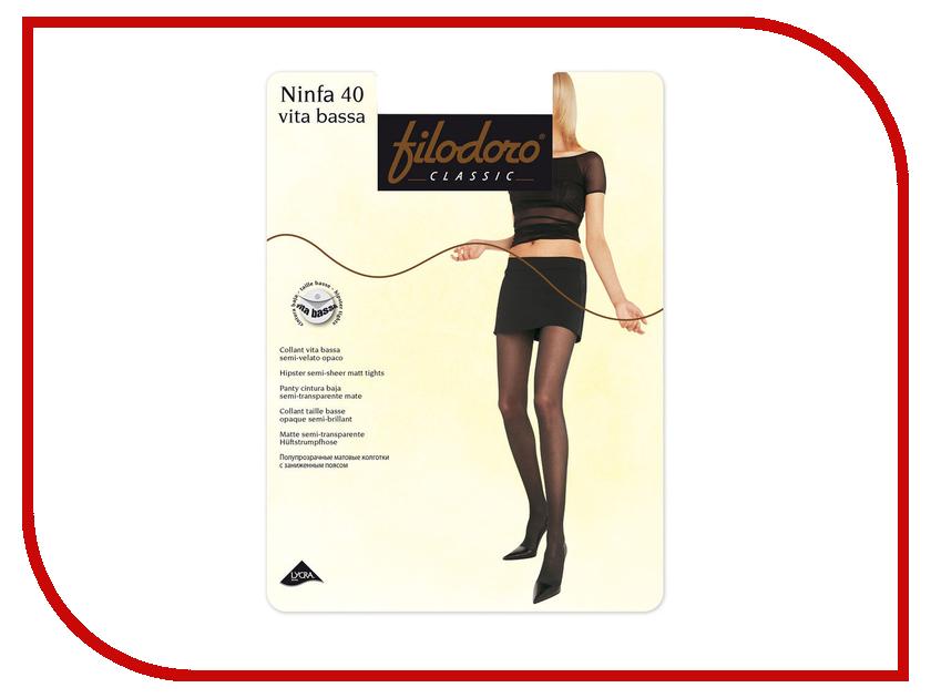 Колготки Filodoro Ninfa размер 4 плотность 40 Den Vita Bassa Cognac колготки filodoro ninfa размер 4 плотность 40 den vita bassa playa