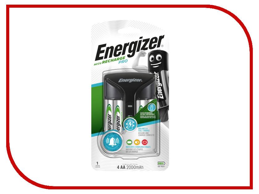 Зарядное устройство Energizer Pro Charger + 4 AA 2000 mAh 639837 зарядное устройство energizer maxi 4шт aa 2000 mah 638582 e300321200