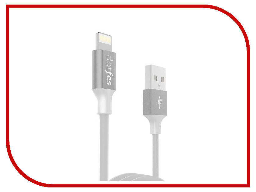 Аксессуар Dotfes USB - Lightning A03 2.5A 1m Grey 14613 gary golf for dummies