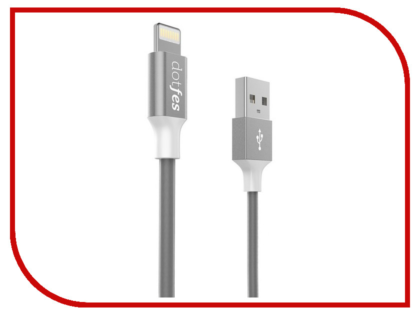 все цены на Аксессуар Dotfes USB - Lightning MFI A03F 2.5A 1m Tarnish 14607 онлайн