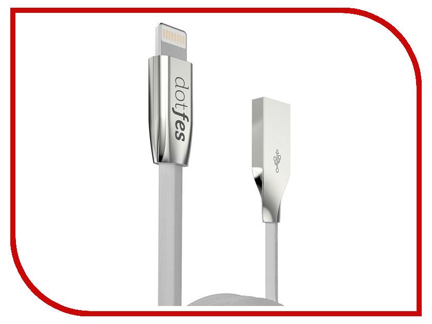 Аксессуар Dotfes USB - Lightning A04 2.5A 1m Grey 14618 зарядное устройство dotfes b03s 2xusb 4 8a lightning gold 03179