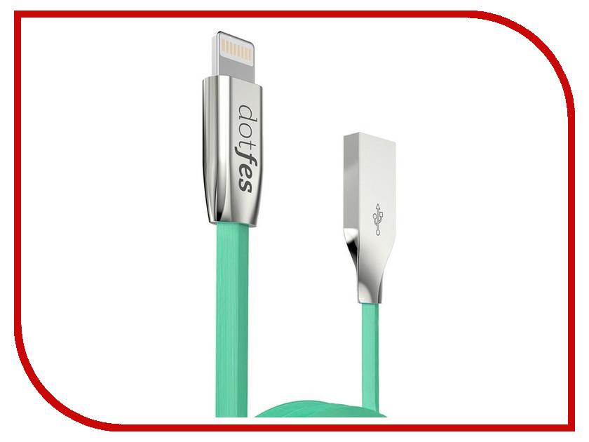 Аксессуар Dotfes USB - Lightning A04 2.5A 1m Green 14619