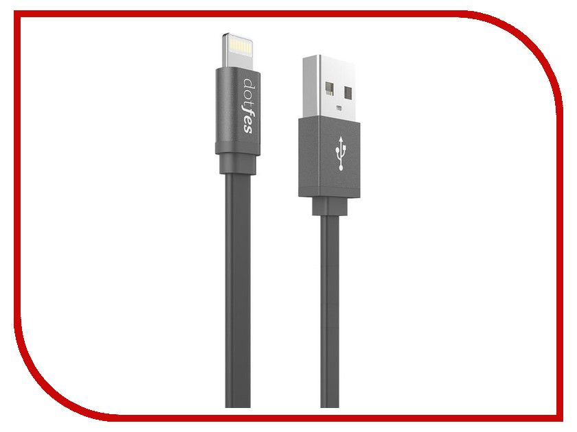 Аксессуар Dotfes USB - Lightning A05 2.5A 1m Black 14622