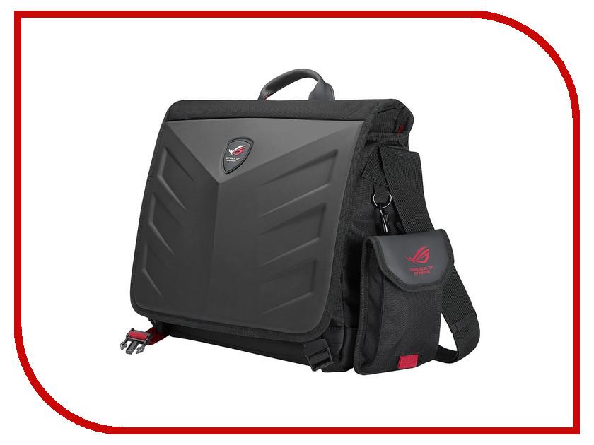 Аксессуар Сумка 15.6-inch ASUS Rog Rancer Messenger Black 90XB0310-BBP000 рюкзак asus 17 0 rog shuttle backpack