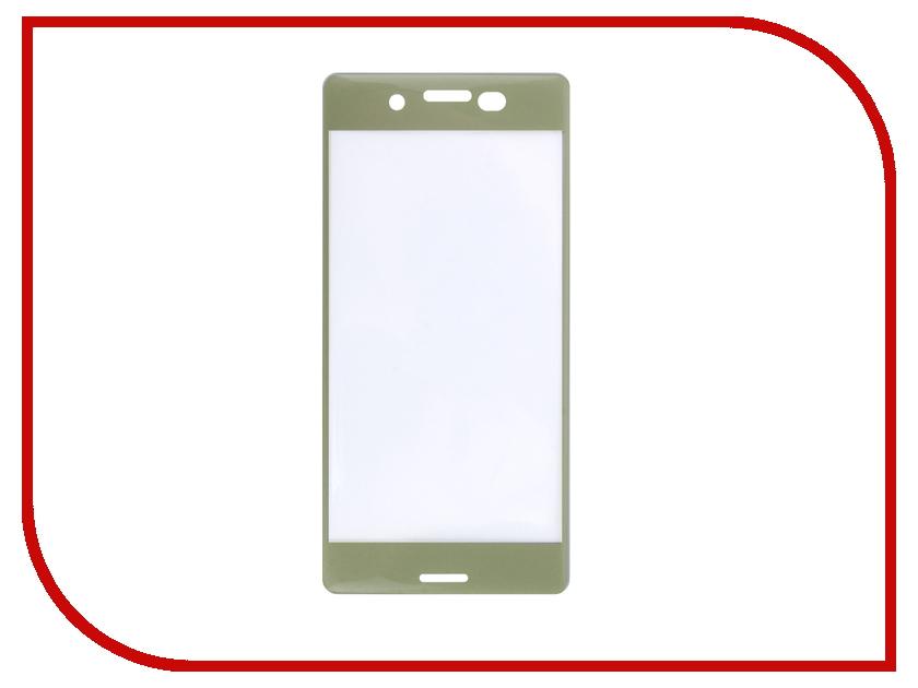 Аксессуар Защитное стекло Sony Xperia XA Solomon 3D Gold frame аксессуар защитное стекло meizu u20 solomon full cover white