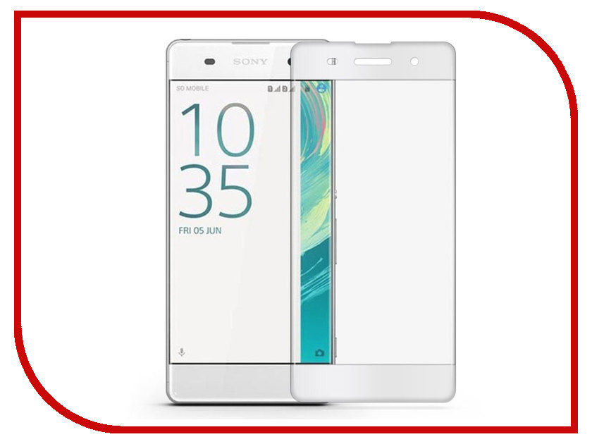 все цены на Аксессуар Защитное стекло Sony Xperia XA Solomon 3D White frame онлайн
