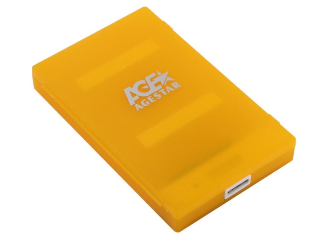 Внешний корпус для HDD AgeStar 3UBCP1-6G USB3.0 SATA Orange