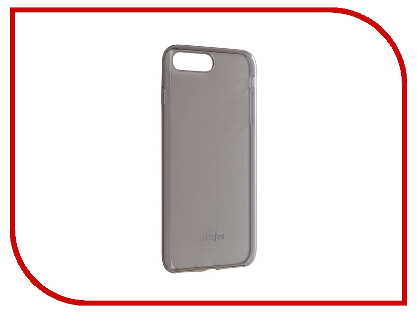 Аксессуар Чехол Dotfes G04 Ultra Slim TPU Case для APPLE iPhone 7 Plus Transparent-Black 47076 аксессуар dotfes microusb a09m self rolling 0 8m grey 14769