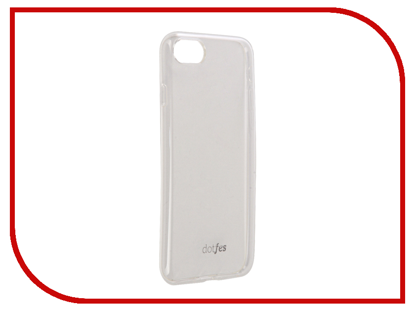 Аксессуар Чехол Dotfes G04 Ultra Slim TPU Case для APPLE iPhone 7 Transparent 47073 аксессуар dotfes microusb a09m self rolling 0 8m grey 14769