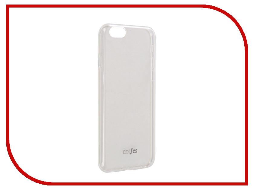 Аксессуар Чехол Dotfes G04 Ultra Slim TPU Case для APPLE iPhone 6/6s Transparent 47069 adapter 3 5mm 1 8 female to 3 5mm female plug jack audio headphone stereo adapter 50pcs metal high quality wire connector