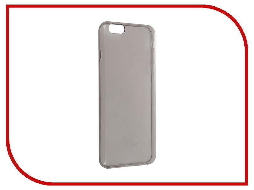 Аксессуар Чехол Dotfes G04 Ultra Slim TPU Case для APPLE iPhone 6 Plus/6s Plus Transparent-Black 47072 аксессуар чехол elari для elari cardphone и iphone 6 plus blue