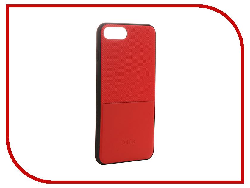 Аксессуар Чехол Dotfes G02 Carbon Fiber Card Case для APPLE iPhone 7 Plus Red 47067