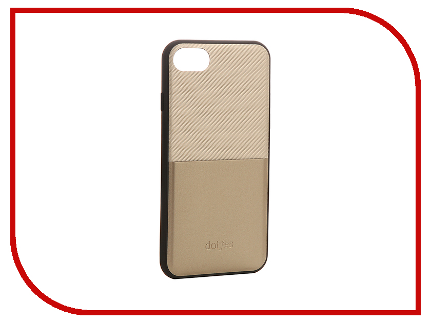 Аксессуар Чехол Dotfes G02 Carbon Fiber Card Case для APPLE iPhone 7 Gold 47062 kajsa carbon fiber aluminum coated pc back shell for iphone 7 4 7 gold