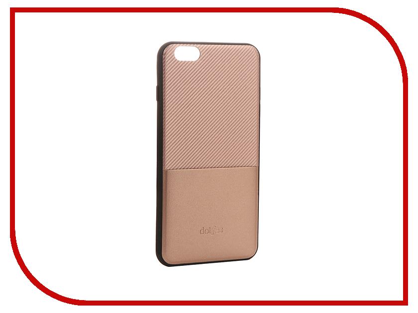 Аксессуар Чехол Dotfes G02 Carbon Fiber Card Case для APPLE iPhone 6/6s Rose Gold 47056