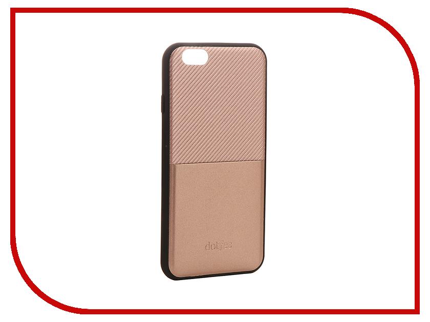 Аксессуар Чехол Dotfes G02 Carbon Fiber Card Case для APPLE iPhone 6 Plus/6s Plus Rose Gold 47060