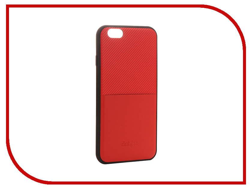 Аксессуар Чехол Dotfes G02 Carbon Fiber Card Case для APPLE iPhone 6 Plus/6s Plus Red 47059 аксессуар чехол elari для elari cardphone и iphone 6 plus blue