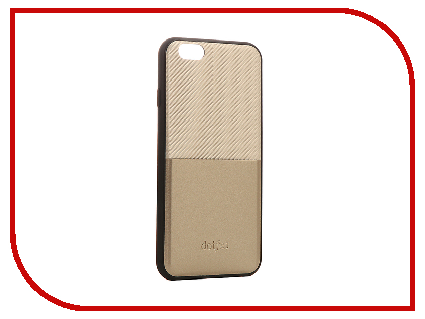 Аксессуар Чехол Dotfes G02 Carbon Fiber Card Case для APPLE iPhone 6 Plus/6s Plus Gold 47058 аксессуар чехол elari для elari cardphone и iphone 6 plus blue