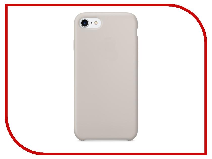Аксессуар Чехол Krutoff Silicone Case для APPLE iPhone 7 Stone 10743 аксессуар чехол krutoff для apple iphone 7 transparent black 11786