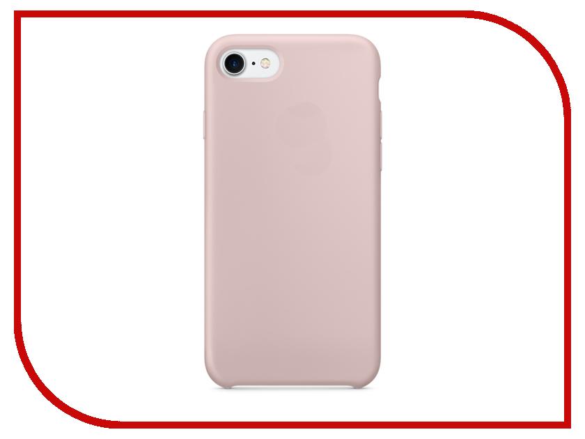 Аксессуар Чехол Krutoff Silicone Case для APPLE iPhone 7 Pink 10740 аксессуар чехол krutoff silicone case для apple iphone 7 black 10735
