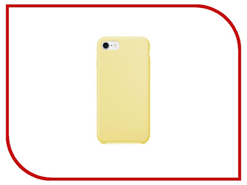 Аксессуар Чехол Krutoff Silicone Case для APPLE iPhone 7 Yellow 10739 аксессуар чехол krutoff для apple iphone 7 transparent black 11786
