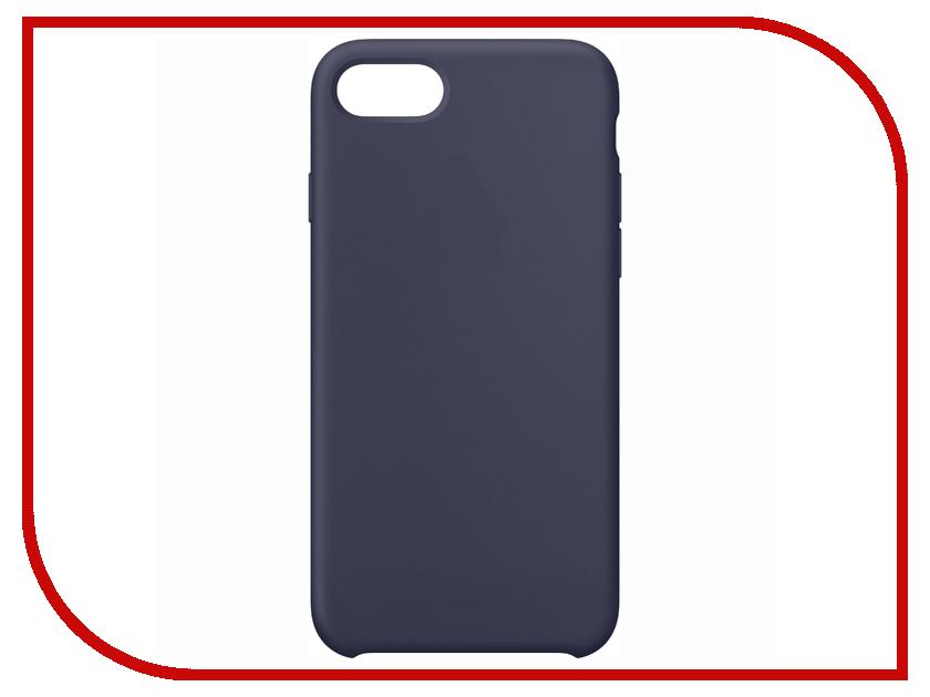 Аксессуар Чехол Krutoff Silicone Case для APPLE iPhone 7 Midnight Blue 10737 аксессуар чехол krutoff для apple iphone 7 transparent black 11786