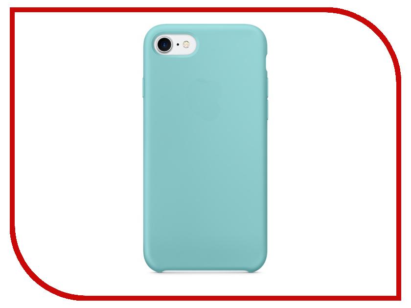 Аксессуар Чехол Krutoff Silicone Case для APPLE iPhone 7 Light Blue 10744 аксессуар чехол krutoff silicone case для apple iphone 6 6s midnight blue 10727