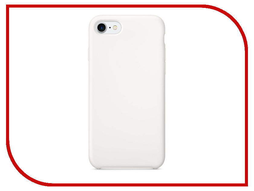 Аксессуар Чехол Krutoff Silicone Case для APPLE iPhone 7 White 10736 аксессуар чехол krutoff для apple iphone 7 transparent black 11786