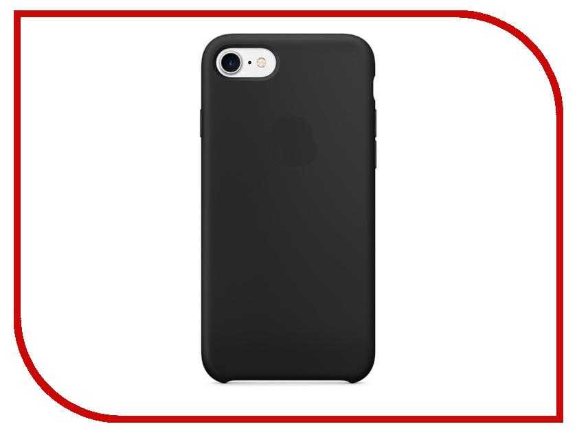 Аксессуар Чехол Krutoff Silicone Case для APPLE iPhone 7 Black 10735 аксессуар чехол krutoff для iphone 6 transparent black 10675
