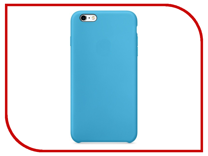 Аксессуар Чехол Krutoff Silicone Case для APPLE iPhone 6/6s Light Blue 10734 чехол apple leather case для iphone 6 6s plus
