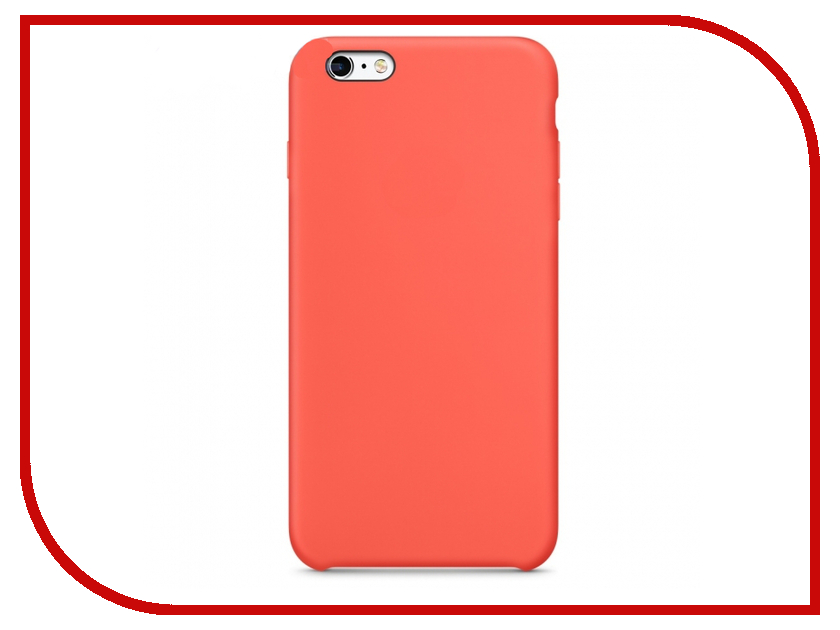 Аксессуар Чехол Krutoff Silicone Case для APPLE iPhone 6/6s Orange 10728 чехол apple leather case для iphone 6 6s plus
