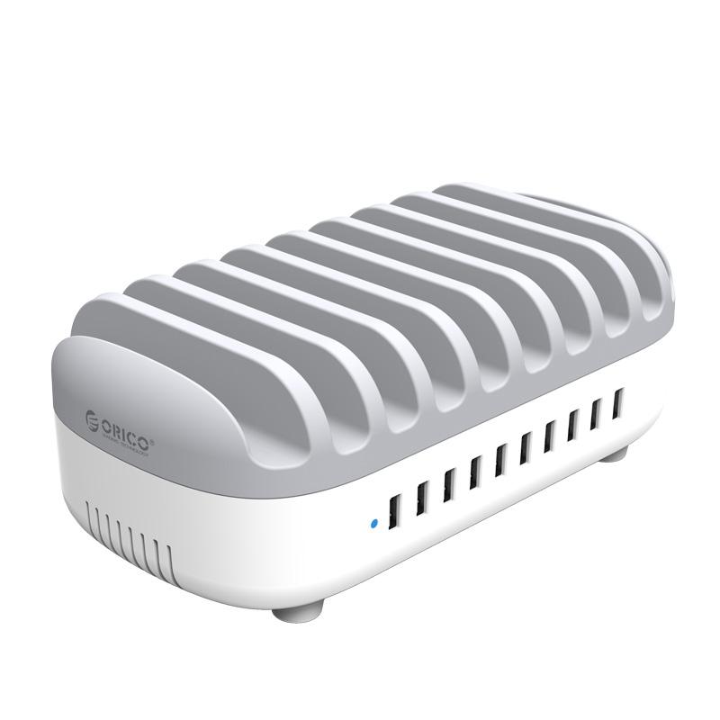 Зарядное устройство Orico DUK-10P-WH White-Grey
