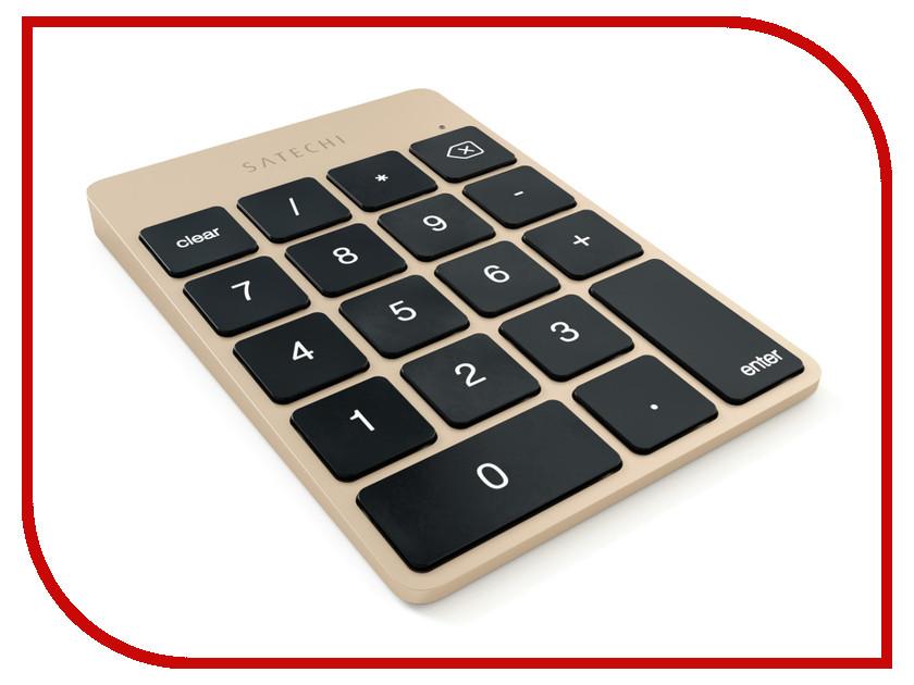 купить Клавиатура беспроводная Satechi Slim Rechargeable Gold ST-SALKPG онлайн