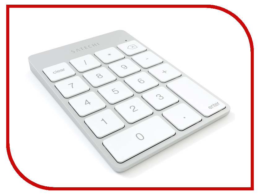 Клавиатура беспроводная Satechi Slim Rechargeable Silver ST-SALKPS