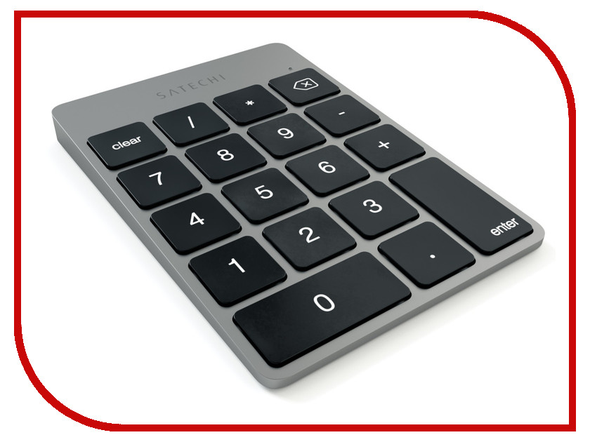 купить Клавиатура беспроводная Satechi Slim Rechargeable Space Grey ST-SALKPM онлайн