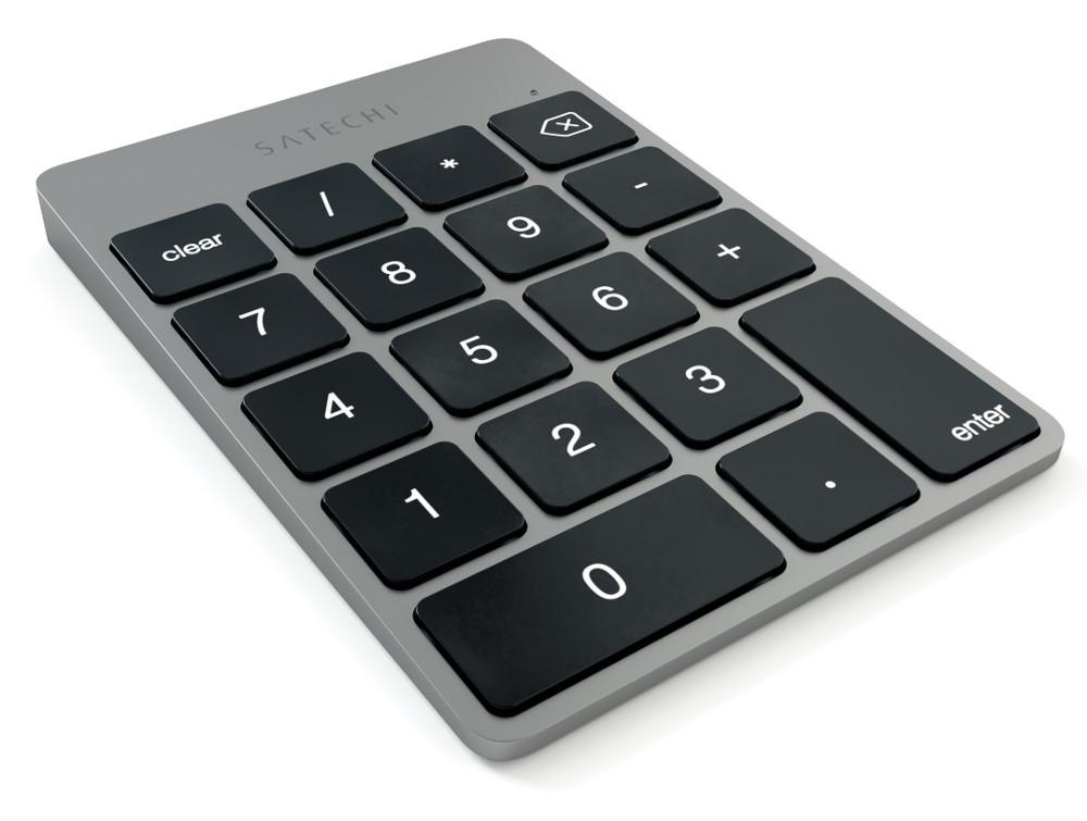 Клавиатура Satechi Slim Rechargeable Space Grey ST-SALKPM