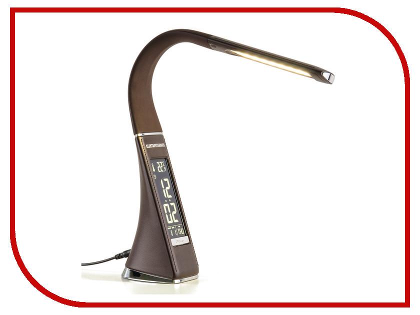 Настольная лампа Elektrostandard Elara Brown elektrostandard лампа светодиодная elektrostandard свеча на ветру сdw led d 6w 3300k e14 4690389085505
