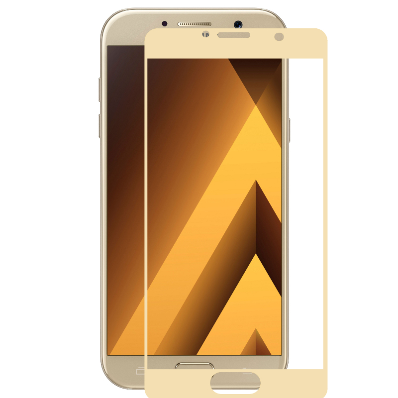 Аксессуар Защитное стекло для Samsung Galaxy A5 A5200 2017 Ainy Full Screen Cover 3D 0.2mm Gold AF-S700L