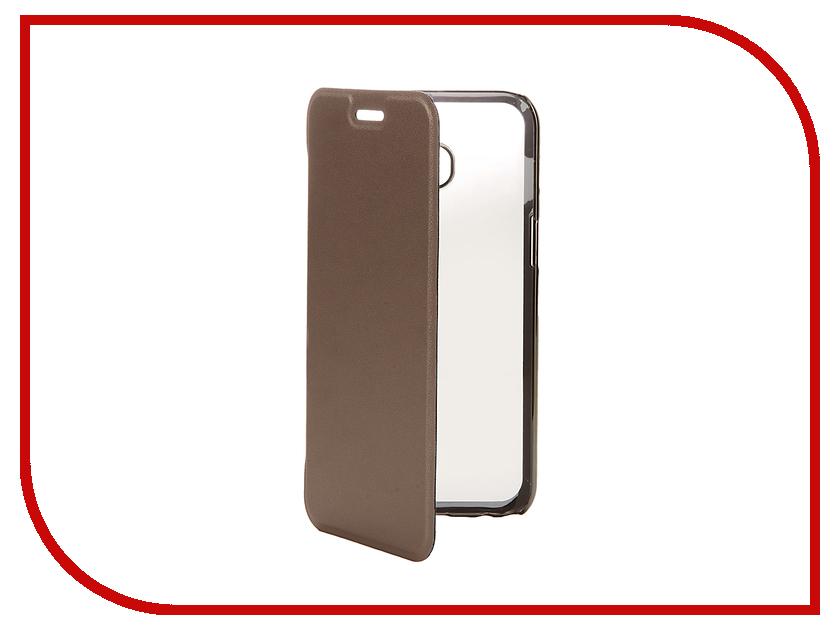 цена на Аксессуар Чехол Samsung Galaxy A3 2017 Muvit Folio Stand Case Gold MLFLC0014